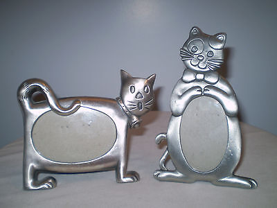 Pair of Pewter Cat Pictue Frames ~ NWOB~ Purrfect to Display Your Kitty Cat Pics
