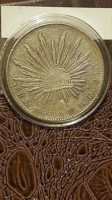 1897 Mexican 8 Reales Silver Coin