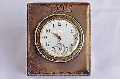 Black Starr & Frost New York Swiss 8 day Standing Clock - Sterling Silver