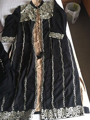 Gold And Black Asian Suit Large Size Brand New