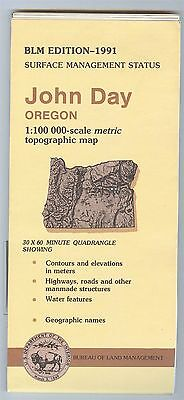 USGS BLM edition topographic map Oregon JOHN DAY 1991