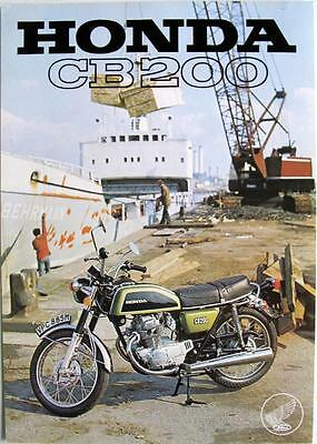 HONDA CB200 Motorcycle Sales Specification Leaflet 1974-75