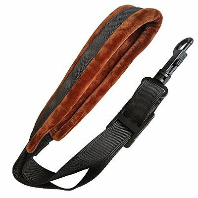 Xinlink Professional Brown Soft Padded Saxophone Neck Strap with Snap Hook for