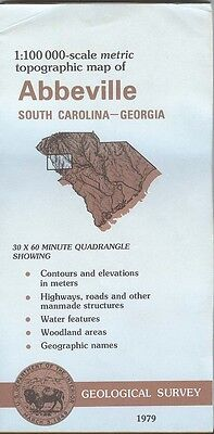 US Geological Survey topographic map metric ABBEVILLE South Carolina - GA 1979