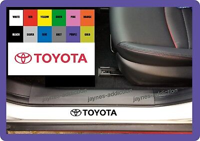 FOR TOYOTA - 4 x Inner Door Sill - VINYL CAR DECAL STICKER ADHESIVE - 150mm long