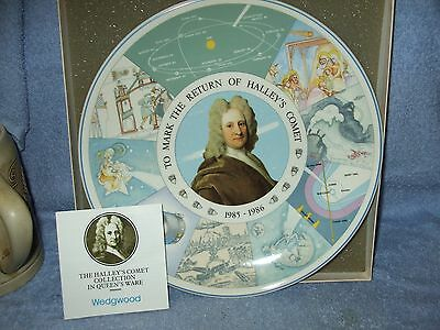 Vintage WEDGWOOD Collectible Plate HALEY'S COMET 1985 MIB