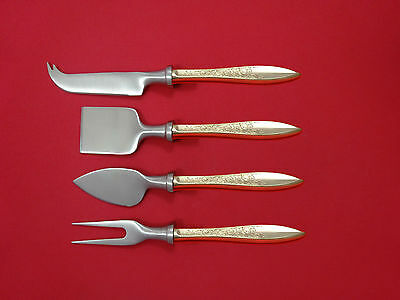White Paisley by Gorham Sterling Silver Cheese Serving Set 4 Piece HHWS  Custom