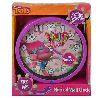 """Dreamworks Trolls 8"""" Musical Wall Clock in Open Box with Try Me"""