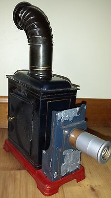 vintage MAGIC LANTERN  antique movie slide tin projector w curved stack