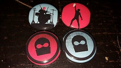 "Set of  4 Twenty One 21 Pilots Band inspired 1"" Pins Button/Magnets Indie Pop #6"