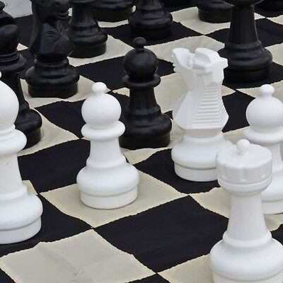 Premium 30cm Plastic Chess, Checkers, Mat and Bag Package