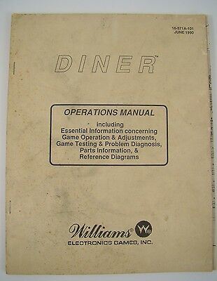 Diner Williams Pinball Manual Solid State