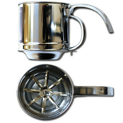 1-Cup One-Handed Stainless Steel Mesh Screen Kitchen Baking Flour Sifter