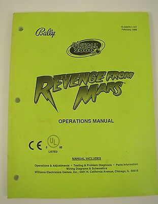 Revenge from Mars Pinball 2000 Manual
