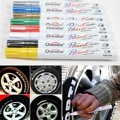 Utility Waterproof Permanent Paint Marker Pen Car Tyre Tire Tread Rubber Metal