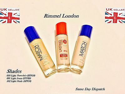 Rimmel Match Perfection SPF18 SPF20 Foundation 30ml - Choose Shade