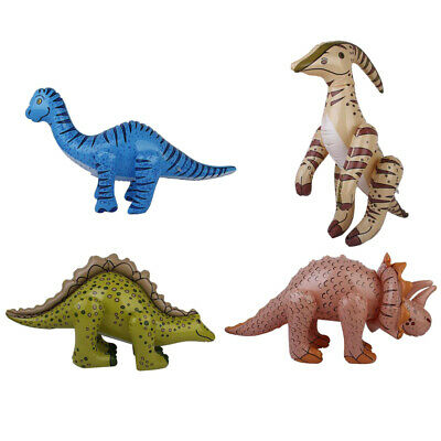 4pcs Inflatable Dinosaurs Blow Up Dinosaurs Model Birthday Party Pool Fun Toys