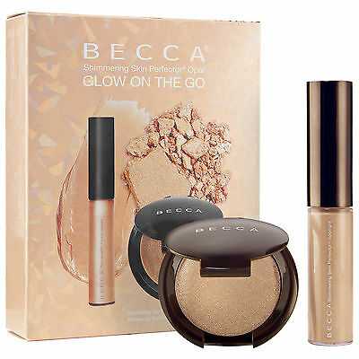 NEW Becca glow on the go shimmering skin perfector opal duo pack