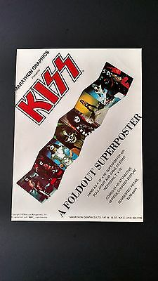 Kiss A Foldout Sold Back In 1978, Rare Original Print Promo Poster Ad