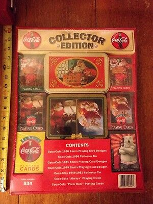Coca Cola Collectors Edition Playing Cards and Tins Item # 534 NEW Sealed