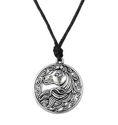 Irish Celtic Horse Pendant Christian Religious Sun War God Knot Rope Necklace
