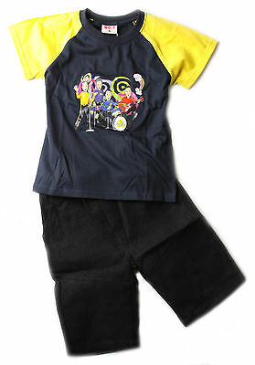 New Boys Children Kids Wiggles Summer Outfit Tshirt Top Tees Denim Shorts Set