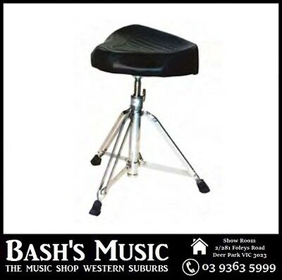 DXP DXP191 Heavy Duty Padded Drum Throne Stool Saddle Seat Height Adjustable