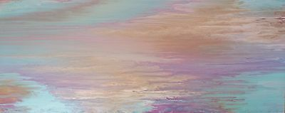 Modern Original Abstract Canvas Painting Gold Fuchsia Pink Turquoise Lilac
