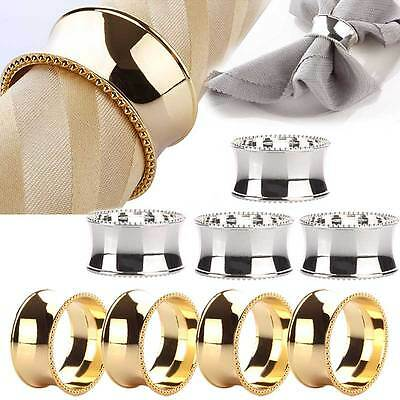 4x Mental Napkin Rings for Parties Weddings Cheistmas Dinners Table Decoration