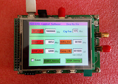 ADF4355 high frequency signal source module with color TFT touch panel control