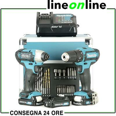 Makita CLX202SAX2 Set Trapano avvitatore e impulsi 3 Batterie da 10,8V kit