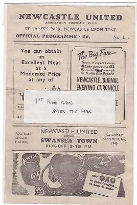 Newcastle V Swansea 1946/47