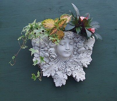 Stone Decorative 'Lady of the Garden' Wall Planter