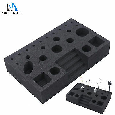 Fly Tying Tool Caddy Fishing Fly Tying Station Black Foam Vise Clamp Tool Holder