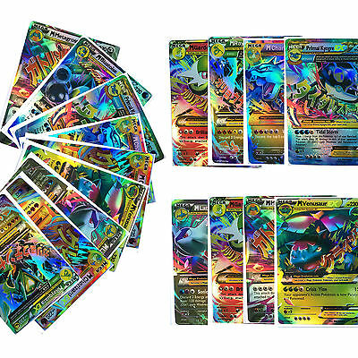 18Pcs Pokemon TCG MEGA Monster Shiny Trading EX Card Holo English Rare Full ART