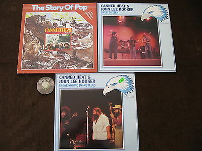 3 LP Canned Heat & John Lee Hooker Sixteen Crawling Story 70s Germany | M- to EX