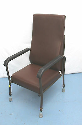 Brown Day Chair With Height Adjustable Legs