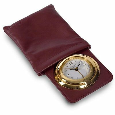 Brand New Rapport Pochette Travel Alarm Clock in Leatherette Pouch Boxed
