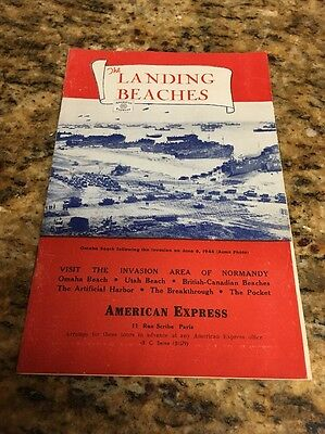 The Landing Beaches and Normandy 50s American Express booklet