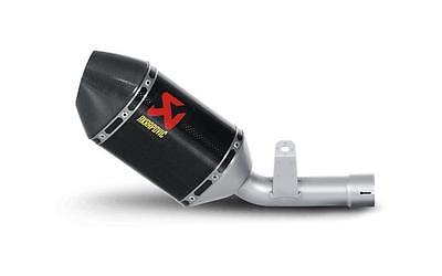 Suzuki GSXR 600 750 K6 K7 Akrapovic Carbon Low Exit Slip On Exhaust End Can