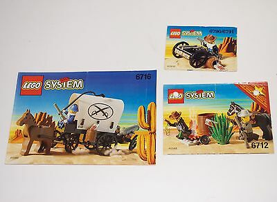Lego System Bauanleitung Planwagen 6716 6712 6790 Western * Only Instruction *O5
