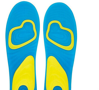 1Pair Gel Activ Shock Absorption Insoles Cushion Foot Care Heel Arch Feet