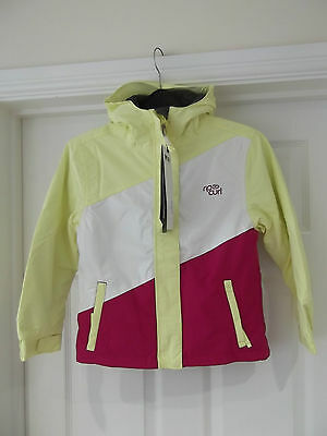 Rip Curl Candy Stripe Snow Jacket NWT Girl's 8 Years Yellow/White/Virtual Pink