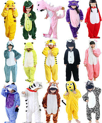 Hot Sale Kids Pajamas Kigurumi Unisex Cosplay Animal Costume Onesie Sleepwear
