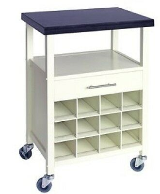 Ethos Live Caymen Cream Wood with Granite Top Kitchen Trolley