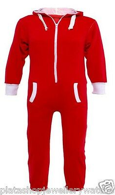 Kids Red Onesie Jumpsuit Playsuit All in One Age 9-10   Free Name embroidered