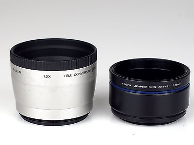 FUJIFILM 1.5 x TELE CONVERTER with ADAPTER RING 55 mm / 49 mm AR-FX5
