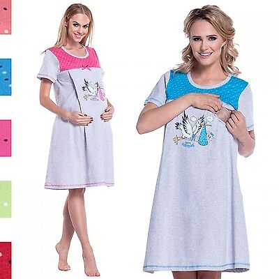 Happy Mama. Women's Maternity Hospital Gown Nightie for Labour & Birth. 220p