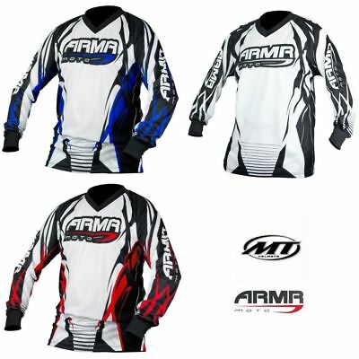 Armr Motocross Moto X Adult Shirt Jersey Off Road Clothing Red Blue Black New