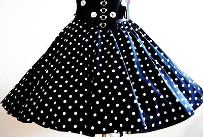 Rock Navy Weisse Punkte Dots Square-Dance 50-Ties 120